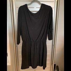 Whitehouse Blackmarket black beaded dress